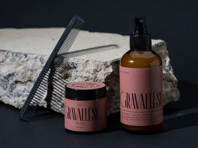 Gravalesse Co. Indentity & Packaging typography graphic design packaging grooming products hair products pomade gif design illustration nevada reno branding logotype logo