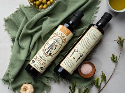 Olivaio - Olive Oil Bottle Packaging bottle label packaging print olive oil