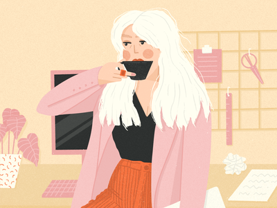 Monday morning blues editorial illustration procreate art procreate character design illustration