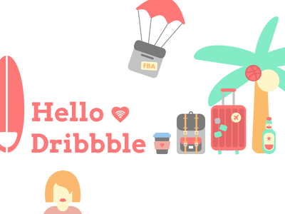Hello Dribbble! travel illustrations icons