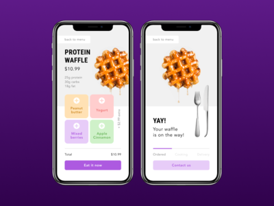 Protein Waffle Order UI