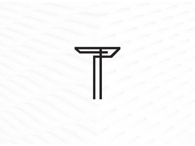 Geometric T Logo Symbol By Wildcat Echo Dribbble