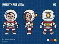 Role three view——astronaut