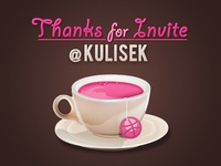 Dribbble coffee thanks