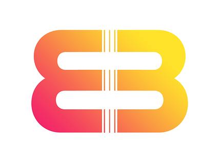 B3 Productions flat vector typography branding agency design logo branding