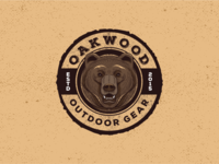 Grizzly Badge Logo