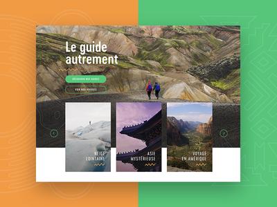 Trekking ⛰️ design webdesign slideshow landscape discover trek trekking hiking homepage travel