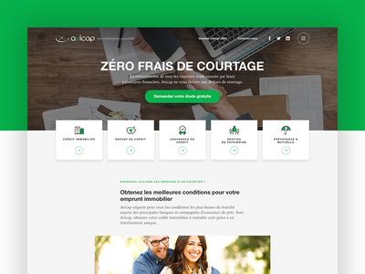 Insurance 🏢 green cards real estate credit insurance homepage website web design ui