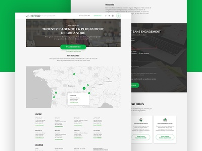 Insurance 🏢 green cards real estate credit insurance content website web design ui