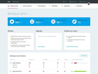 CRM 🖥️ clean white desktop interface ui design dashboard crm