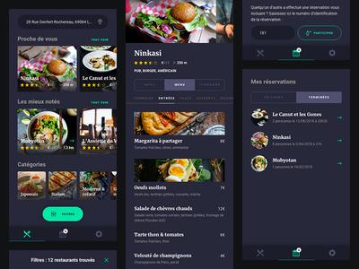 Food App 🥡 menu dark design ui order food application app