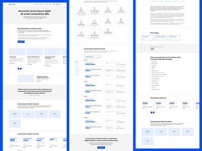 WIP - UX design 🖊️ prototype layout clean sketch blue wireframe design mockup wireframe design ux ui design ux