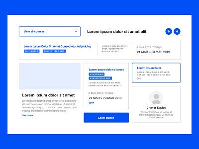 UX/UI kit 🖊️ ux design ux  ui kit ux kit ui wireframe design prototype layout blue ux designer ux wireframe clean cards ui design