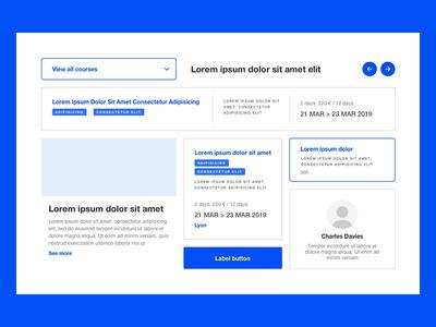 WIP - UX design 🖊️ wireframe design prototype layout blue ux designer ux wireframe clean cards ui design
