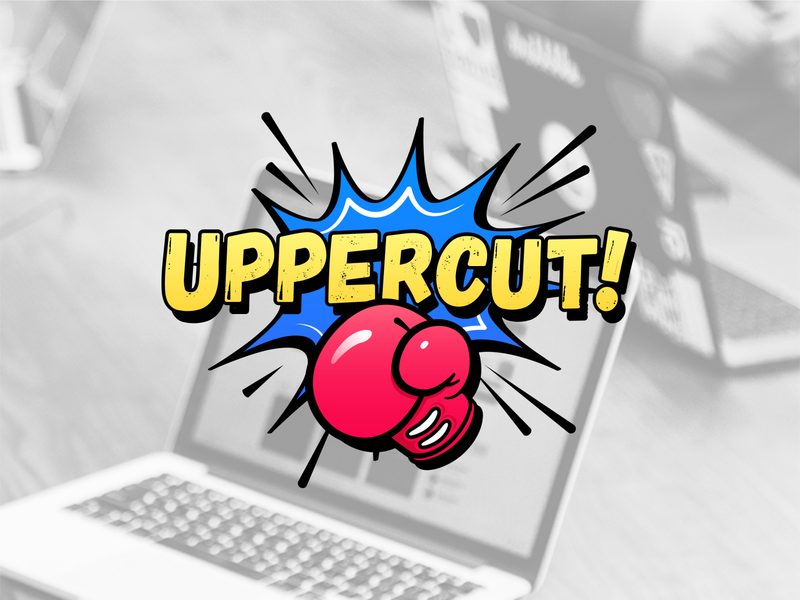 Uppercut Logo games game criticism critic content media gaming reviews website pow glove uppercut punch vector design illustration icon logo