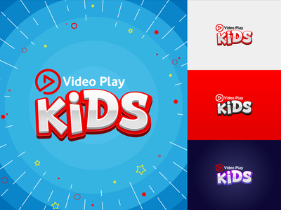 Video Play Kids Launch kids logo illustration marketing learning video advertising design hot air balloon home covid-19 kids books campaign edutainment typography kids illustration vector