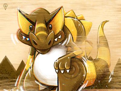 Krookodile fanart crocodile unova shiny illustration characterdesign procreate krookodile pokemon art p25 pokemongo pokemon