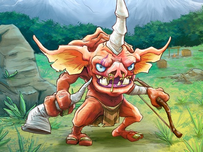 Bokoblin sketch breathofthewild legendofzelda loz procreate creature bokoblin botw2 botw character illustration