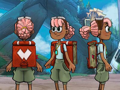 Chloe - Character Design Colours fantasy character visualdevelopment visdev characterdesign 2danimation 2d animation cartoon turnaround characterturnaround charactersheet procreate digitalart oc originalcharacter