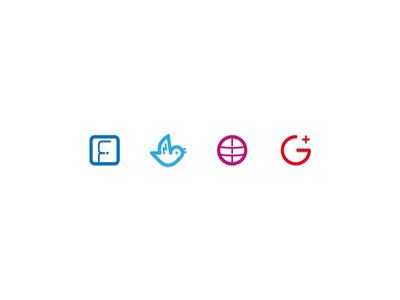 SpeadBrand Social Media Icons google plus social media monoline icons google dribbble twitter facebook