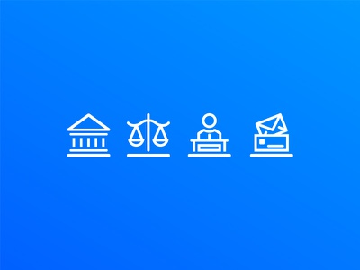 JHS Attorneys Website Icons court justice scales podium letter lawyer law legal navigation website icons attorneys