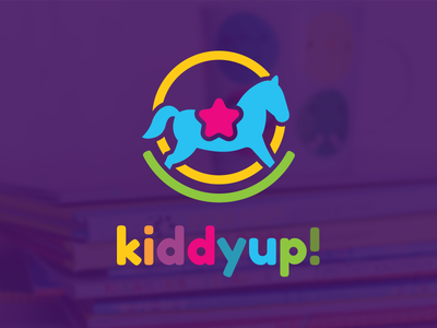 Kiddyup! fun children kids kiddyup giddyup horse rocking branding brand design logo
