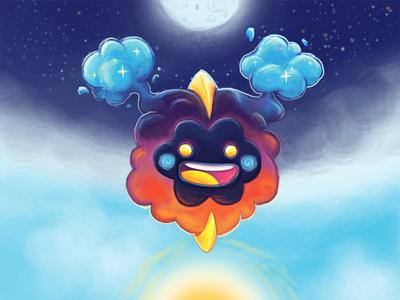 Cosmog puff cloud space moon sun cosmog pokemon