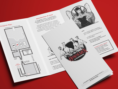Pamphlet Dungeon: Tomb of the Four Horsemen itch monsterhearts dungeon horsemen trifold ttrpg