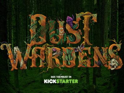 Dust Wardens apocalypse logotype illustration logodesign gamedesign kickstarter ttrpg dustwardens