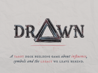 Drawn logo typography triangle legacy influence tarot consequence symbols drawn game ttrpg