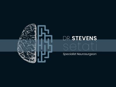 Dr Stevens Setati Neurosurgeon Logo doctor icon neurosurgeon stationery neuron maze anatomy brain neurology typography branding design vector illustration logo