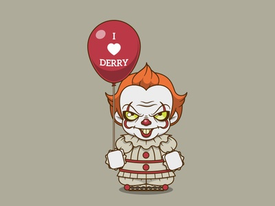 Pennywise halloween horrorclown derry killer clown balloon it clown pennywise