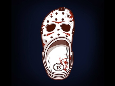 Killer Croc horror friday the 13th jason voorhees jason shoes crocs croc halloween