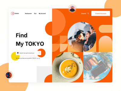 Dally Challenge - Day 1 | Find my Tokyo innovation branding uiux uichallenge @dailyui travel japan web ux ui