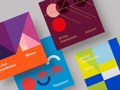 Booklet covers typography color graphic