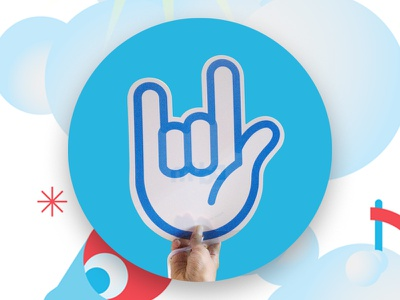 Daum Music Promotion Identity finger graphic brand experience bx branding