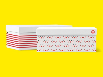 Proposals for Kakao Gift Rebrand bx brand experience box yellow pattern packaging branding