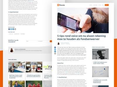 New Procurios blogpost pages