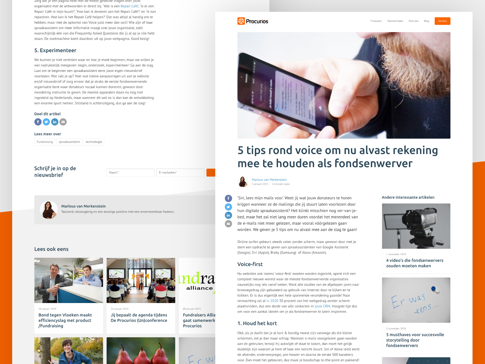 New Procurios Blogpost Pages By Kars Kremers On Dribbble