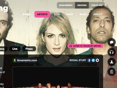 LGR Artist page black pink big-background-image helvetica