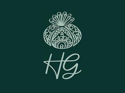 HG Peyote Logo branding green illustraion flower cactus logo peyote