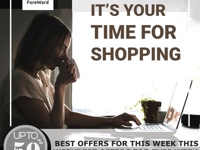 social media banner for shopping content