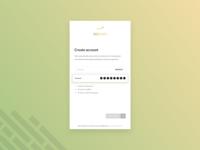 Mobile Create Account UI