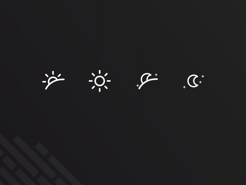 Sunrise to Sunset Icon Exploration sunset sunrise night day time sun art web vector design flat illustration ui identity exploration icon branding brand
