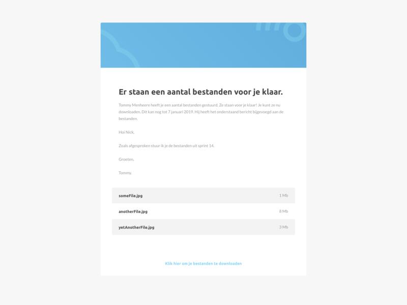 File Transfer UI Mail