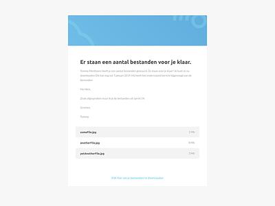 File Transfer UI Mail app mail webmail ux ui flat design