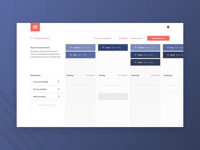 Timetable UI Mockup website webdesign vector web app ux ui flat design