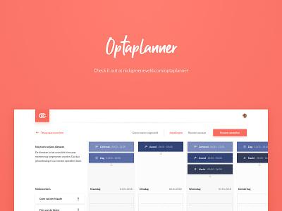 Optaplanner UI website web vector app ux ui flat design
