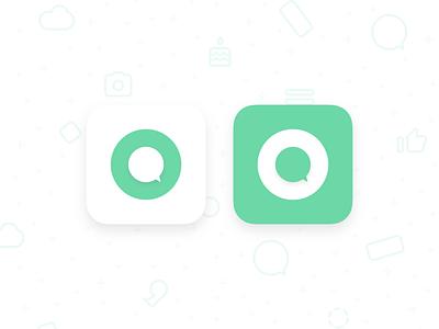 Innercircle App Icon appicon mockup logo icon vector app ux ui flat design