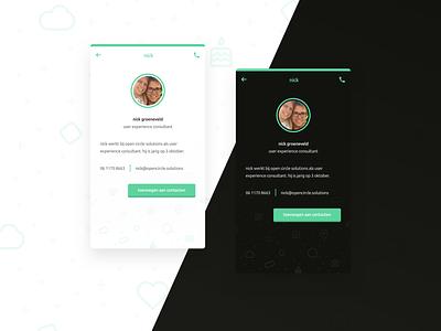 Innercircle Profile UI Dark Mode darkmode mockup website icon illustration app ux ui flat design